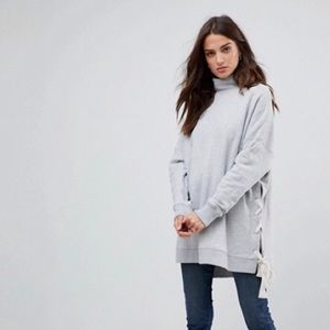 Free People Gray So Plush Pullover